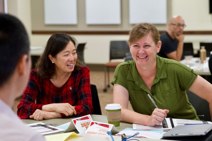 Faculty and instructors participating in discussion at a Blend@UW session